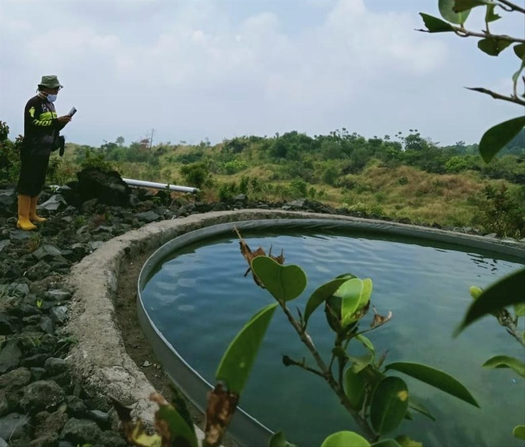 Salah satu embung air yang berada di kawasan Gunung Ciremai Kabupaten Kuningan, Jawa Barat. (Istimewa)