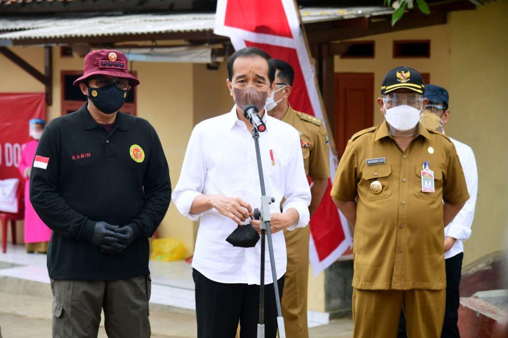 Presiden Joko Widodo di Cirebon Jawa Barat. (Biro pers Kepresidenan)